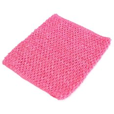 Hình ảnh Crochet Tube Top elastic Waistband Hot Pink - intl