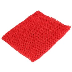 Hình ảnh Crochet Tube Top elastic Waistband Red - Intl