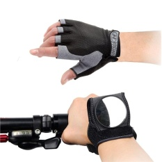 Cycling Gloves Breathable Fingerless Bicycle Riding Gloves Bike Gloves (black) - intl