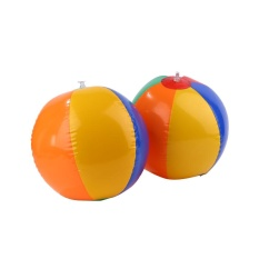 Hình ảnh Darable Suitable Outdoor Sport Colors Inflatable Balloons Beach Ball Swim Fun Kids Water Toy - intl