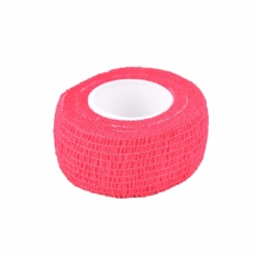 Hình ảnh Disposable Self-Adhesive Elastic Bandage For Handle Grip Tube Tattoo Accessories Red - intl