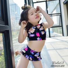 Hình ảnh Đồ bơi cho bé 2-3 tuổi áo yếm, quần cạp cao B04XD Decoshop68