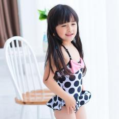 Mua Đồ Bơi Trẻ Em 3 4 Tuổi Chấm Bi Đen Một Mảnh Vay Xoe Nơ Hồng B05Td Xl Decoshop68 Rẻ