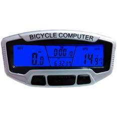 Đồng hồ tốc độ xe đạp đa chức năng SunDing 558A (Bạc)