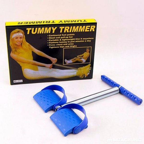 [Lấy mã giảm thêm 30%]Dụng cụ tập giảm mỡ bụngTummy Trimmer( Xanh)cỡ lớn