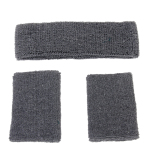 Giá Bán Elastic Sweatband Set 1X Headband 2X Wristbands For Sports Grey Intl Bolehdeals