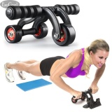 Bán Esogoal 3 Wheel Ab Roller Wheel Pro Core Fitness Abdominal Exercise Equipment Gym Home Workout Machine With Kneepad Floor Stopper Intl Nguyên