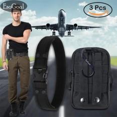 EsoGoal Belt And Molle Pouch,  Waist Belt  Equipment With EsoGoal Plastic Carabiner Đang Khuyến Mại Khủng