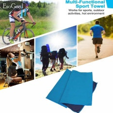 Bán Esogoal Cooling Towel Instant Icy Cooling Chilly Towel For Sports Workout Fitness Gym Yoga Pilates Travel Camping More Blue Intl Nguyên