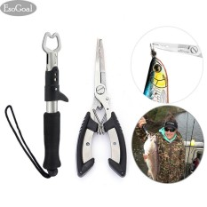 Cửa Hàng Esogoal Fishing Grip Lip Gripper And Fish Holder With Fishing Pliers Stainless Steel Tools Cutter For All Fishing Including Carp Bass Pike And Trout With Sheath Intl Esogoal Trực Tuyến