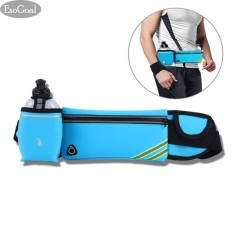 Hình ảnh EsoGoal Running Belt with Water Bottle Waterproof Waist Pack for Men and Women Universal Size to Hold Cell Phone, Wallet, and Keys