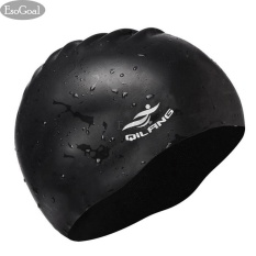 Ôn Tập Esogoal Swim Cap Long Hair Swimming Cap Waterproof Silicone Hat For *d*lt Woman And Men Black Intl Esogoal