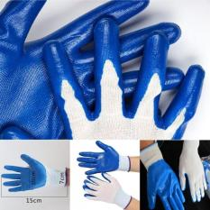 Hình ảnh Fantastic Flower Hot Products Gardening Coated Waterproof Anti Resistant Outdoor Work Thorn Durable Gloves Latex Garden Skid Safety -Blue-one size - intl