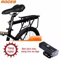 Gác baga cao cấp siêu bền và chắc chắn cho xe đạp + Tặng kèm 1 đèn pha cho xe đpạ siêu sáng