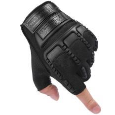 Hình ảnh Găng tay bao vệ tay phượt thủ Nữa ngón - Quốc tế - Đen -Lazada
