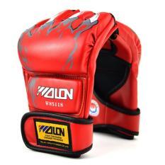 Hình ảnh Găng tay Boxing hở ngón GocgiadinhVN(đỏ)