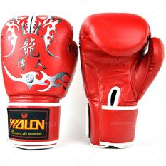 Găng tay boxing wolon thi đấu W8550 (Đỏ)