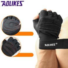 Hình ảnh Găng tay thể hình bảo vệ cổ tay khi tập gym, tập tạ AOLIKES