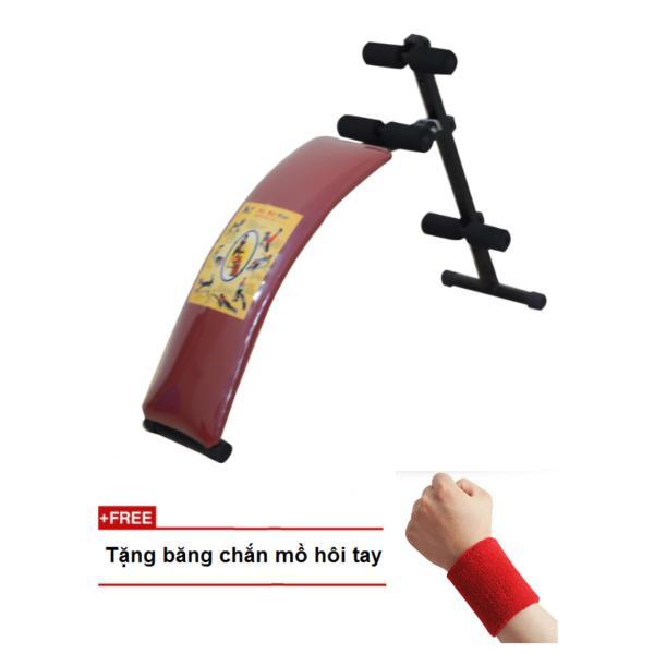 Bảng giá Ghế cong tập lưng bụng cao cấp Zeno (đỏ) + Tặng băng chắn mồ hôi tay
