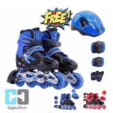 Giá bán Giầy trượt patin cao cấp tặng kèm bộ bảo vệ chân tay và mũ bảo hiểm