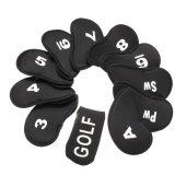 Cau Lạc Bộ Golf Sắt Putter Đầu Bao Headcovers Bảo Vệ Bộ Neoprene Đen 11 Cai Oem Chiết Khấu 40