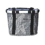 Giá Bán Grey Letter Pattern Waterproof Bicycle Folding Bike Basket Carrier Front Handlebar Bag Mới