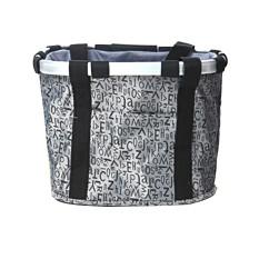Giá Bán Grey Letter Pattern Waterproof Bicycle Folding Bike Basket Carrier Front Handlebar Bag Có Thương Hiệu