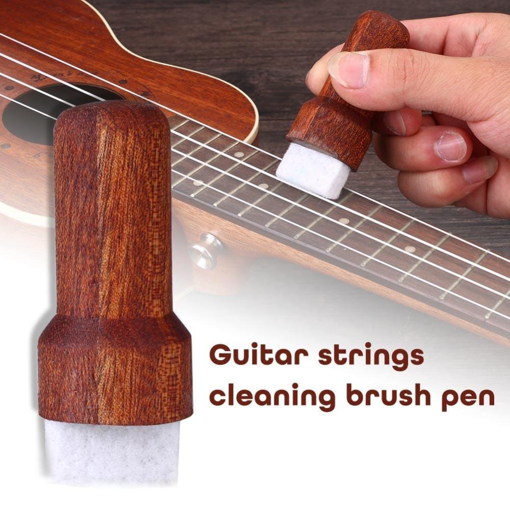 Dây Đàn Guitar Vệ Sinh Ván Trượt Ngón Tay Bằng Gỗ Derusting Chống Gỉ Bụi Bút Dụng Cụ-Quốc Tế