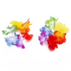 Hình ảnh Hawaiian Fancy Dress Flower Lei Necklace Garland Headband Hula Costume Set - intl