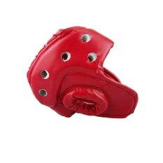 Hình ảnh Head Guard MMA Boxing Punch Helmet Kick Taekwondo Helmet 2 color - intl