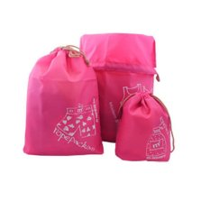 Hình ảnh HKS m square outdoor travel sports Ultraportability admission package travel pouch folded clothes pouch pink roses generation models [adult] - intl