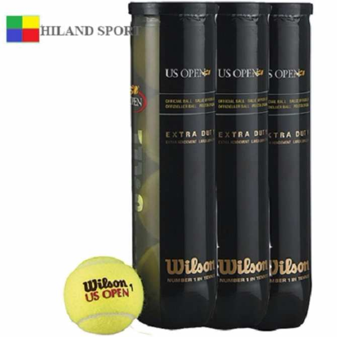 Bảng Giá Bộ 3 lon bóng tennis Wilson đen 4 quả/ 1 lon