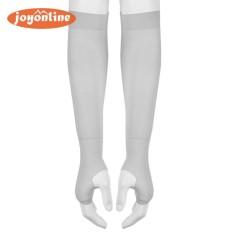 Ice Silk Cooling UV Sun Protection Fingerless Sports Cuff Sleeves(Grey) - intl