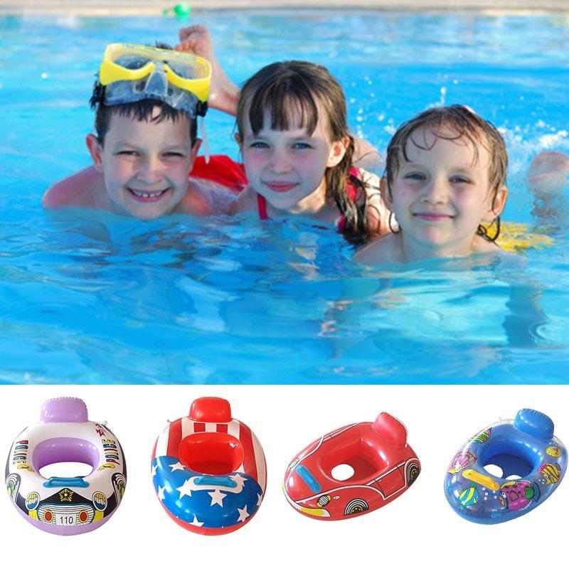 Bơi Phao Bơm Hơi Ghế Nhẫn Trẻ Em An Toàn Cho Bé Nổi Bể Bơi Thuyền Đồ Chơi-Quốc Tế