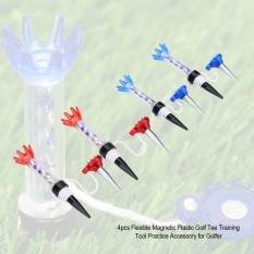 Justgogo 4 cái Golf Tee Bộ Linh Hoạt Bằng Nhựa có Từ Tính Công Cụ Đào Tạo Thực Hành Phụ Kiện dành cho Vận Động Viên Golf-quốc tế