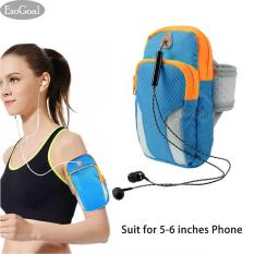 JvGood Sports Armband, Men/Women Running Bag Arm Bag Waist Pouch Armbag Neck Pouch Pack Bag for Running, Cycling, Hiking, Camping, Travel, Workout Black (Suit for 5-6 Inches Phone)