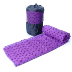 Hình ảnh Khăn trải thảm tập Yoga với hạt PVC chống trơn GocgiadinhVN (Tím)