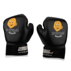 Trẻ em Quyền Anh Chiến Đấu Muay Thái Sparring Đấm Kickboxing Vật Lộn Bao Cát Găng Tay Màu Đen-quốc tế
