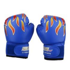 Trẻ em Quyền Anh Chiến Đấu Muay Thái Sparring Đấm Kickboxing Vật Lộn Bao Cát Găng Tay Màu Xanh-quốc tế