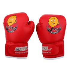 epayst Kids Boxing Fighting Muay Thai Sparring Punching Kickboxing Grappling Sandbag Gloves Red