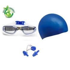 Hình ảnh Bộ kính bơi tráng gương 2360, Mũ bơi trơn chống nước, Bịt tai kẹp mũi POPO Collection