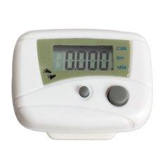 Hình ảnh MÀN HÌNH LCD Chạy Bước Đo Sức Đi Bộ Khoảng Cách Đi Bộ Calorie Counter Passometer Trắng-quốc tế