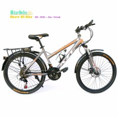 Leo Núi 24 Inch Azi < Khung Sắt > 2 Thắng Dĩa By Xe đạp Starbike.