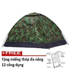 Bán Lều Cắm Trại Vải Du Mau Linh Cho Phượt Thủ Hq Plaza T503I Tặng Kem Miếng Thep Đa Năng 12 Cong Dụng Hq
