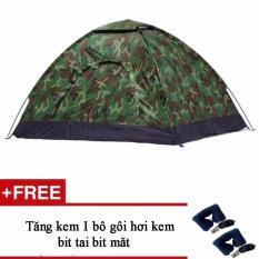 Lều Cắm Trại Vải Du Rằn Ri Tặng Kèm 1 Bọ Gói Hơi Kèm Bịt Mắt Bịt Tai Hà Nội Chiết Khấu