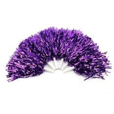 Hình ảnh Lightweight Cheerleader Pom Poms Sports Party Dance Accessories (purple) - intl