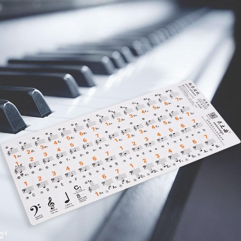 Line-Spectrum Piano Music Keyboard Sticker Decal Label Guided Electronic-Organ