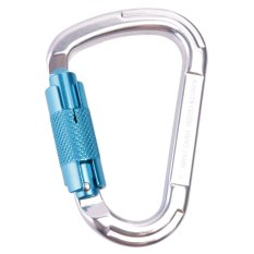 Hình ảnh MagiDeal 25KN Auto Locking D-Ring Carabiner For Mountaineering Rock Climbing - Blue - intl