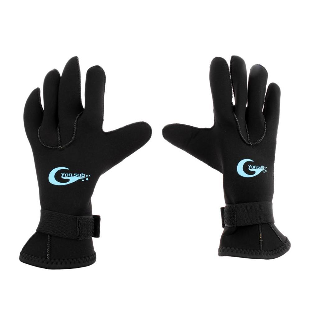 Magideal 3Mm Neoprene Wetsuit Gloves Kayak Diving Swimming Surfing Gloves S