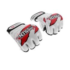 Hình ảnh MagiDeal MMA Boxing Gloves PU Half Finger Fighting Muay Thai Training Gloves White - intl